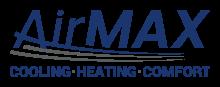 AirMaxSC logo. AirMax SC. Cooling | Heating | Comfort.