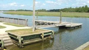 Docks at Horlbeck Creek accessible from Brickyard Plantation