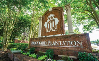 Brickyard Plantation neighborhood sign