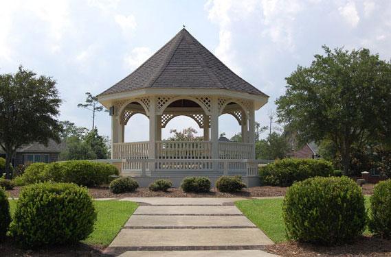 Gazebo in Brickyard Plantation, Mount Pleasant, south Carolina